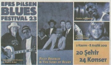 North Cyprus Music | 23rd Efes Pilsen Blues Festival | 13th November 2012