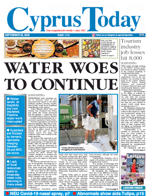 North Cyprus News - Cyprus Today 26th September 2020